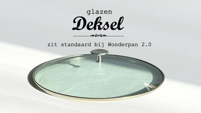 (106) Glazen deksel voor Wonderpan 2.0