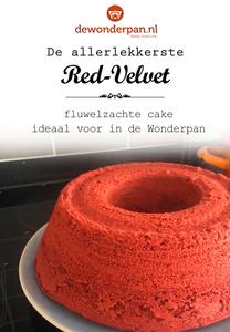 Bakmix - Red Velvet - 500 gram - fluweelzachte cake - voor de Wonderpan